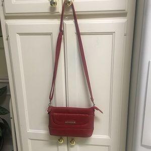 Stone Mountain red crossbody bag.